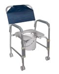 Commode, Bathroom Safety, Aluminum, wheels, home health care