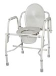 Commode, drop arm, bathroom safety, home health care