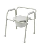 Commode, bucket, bathroom safety, Aluminum, folding, home health care