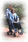 Hip replacement, knee replacement, 2-in-1 wheel chair