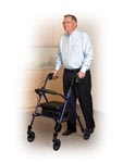 Universal Height, one size, steel fold-able rollator, home health care